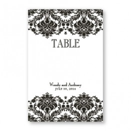 Dramatic Damask Table Cards