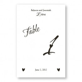 Initial Table Cards