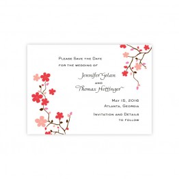 Delicate Vines Save The Date Cards