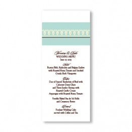 Blooming Border Menu Cards