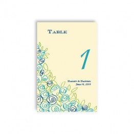 Colorful Cluster Table Cards