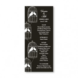 Loving Birds Menu Cards