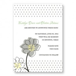 Floral Banner Save The Date Cards