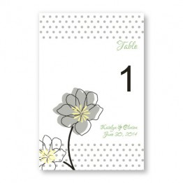 Floral Banner Table Cards