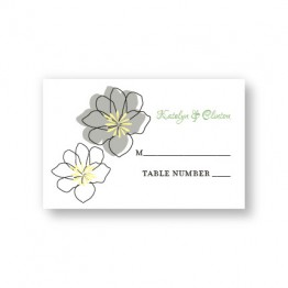 Floral Banner Seating Cards