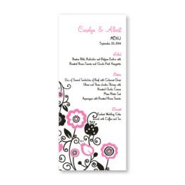 Floral Elegance Menu Cards