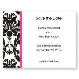 Victoria Damask Save The Date Cards
