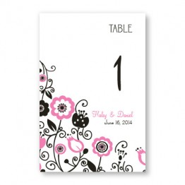 Floral Elegance Table Cards