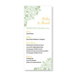 Wedding Bliss Menu Cards