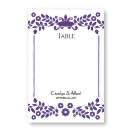 Vintage Frame Table Cards