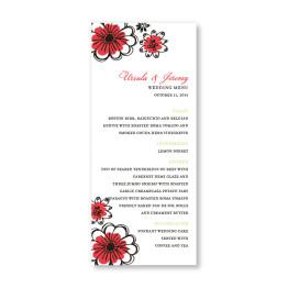 Love in Bloom Menu Cards