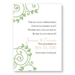 Symbol of Love Save The Date Cards