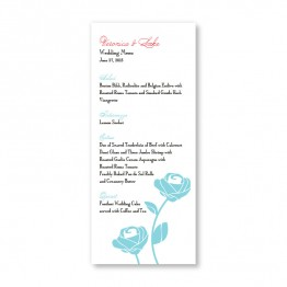Roses are Forever Menu Cards