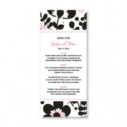 Flower Garden Menu Cards