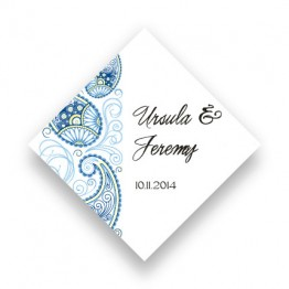 Paisley Charm Favor Tags