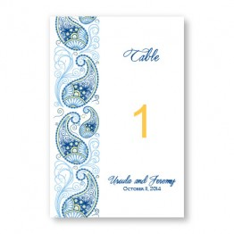 Paisley Charm Table Cards