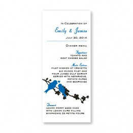 Wings of Love Menu Cards