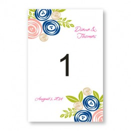 Touched with Roses Table Cards