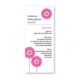 Love Blossoms Menu Cards
