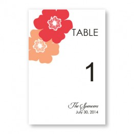 Matchless Beauty Table Cards