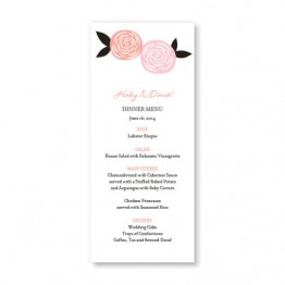Radiant Roses Menu Cards