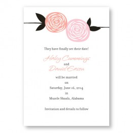Radiant Roses Save The Date Cards