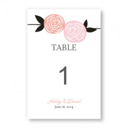 Radiant Roses Table Cards
