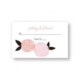 Radiant Roses Seating Cards