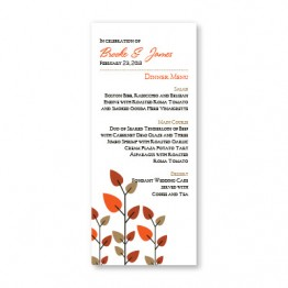 Leaves of Love Menu Cards