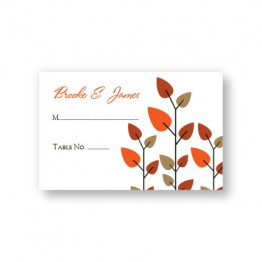 Leaves of Love Seating Cards