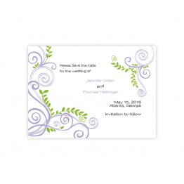 Radiant Vines Save The Date Cards