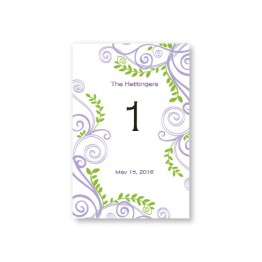 Radiant Vines Table Cards