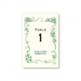 Dazzling Vine Table Cards