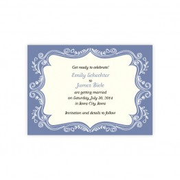 Ornamental Border Save The Date Cards