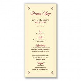 Gretchen Menu Cards