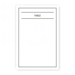 Audrey Table Cards