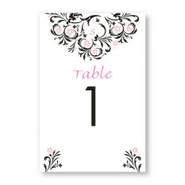 Floral Allure Table Cards