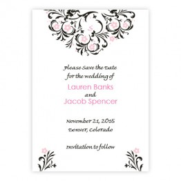 Floral Allure Save The Date Cards