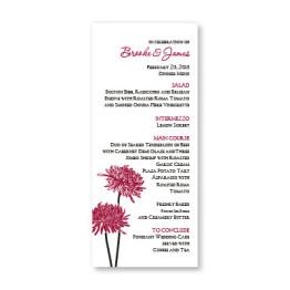 Floral Simplicity Menu Cards