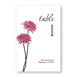 Floral Simplicity Table Cards