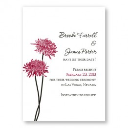 Floral Simplicity Save The Date Cards