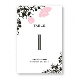 Romantic Petals Table Cards