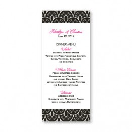 Delicately Bordered Menu Cards