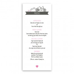Ruby Menu Cards