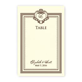 Aubrey Table Cards