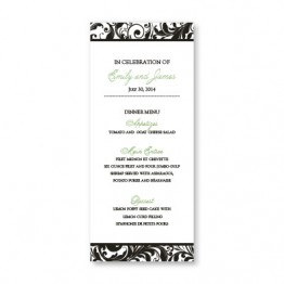Fashion Swirls Menu Cards