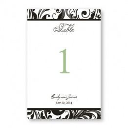 Fashion Swirls Table Cards