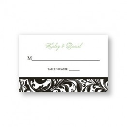 Fashion Swirls Seating Cards