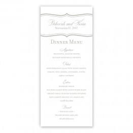 Catherine Menu Cards