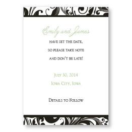 Fashion Swirls Save The Date Cards